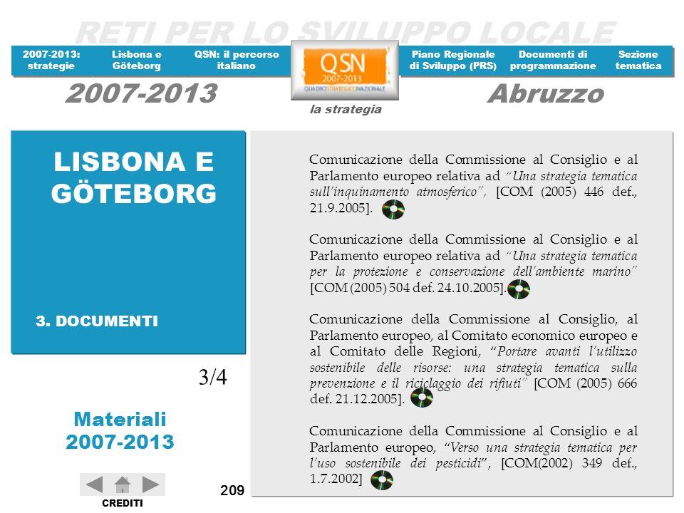 LISBONA E GÖTEBORG 3/4 3. DOCUMENTI