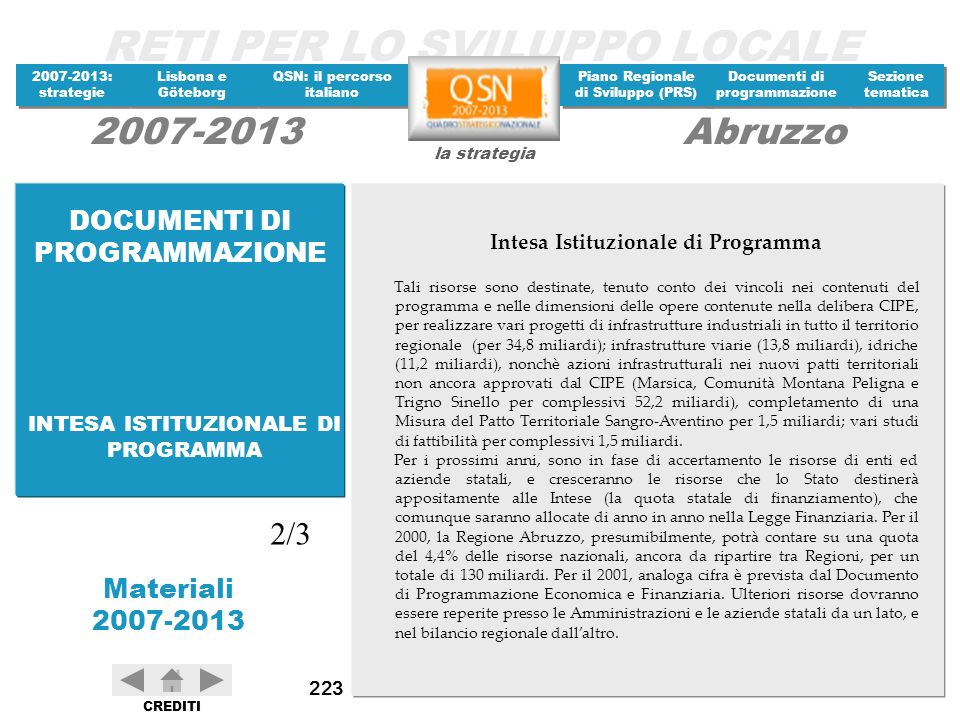Intesa Istituzionale di Programma