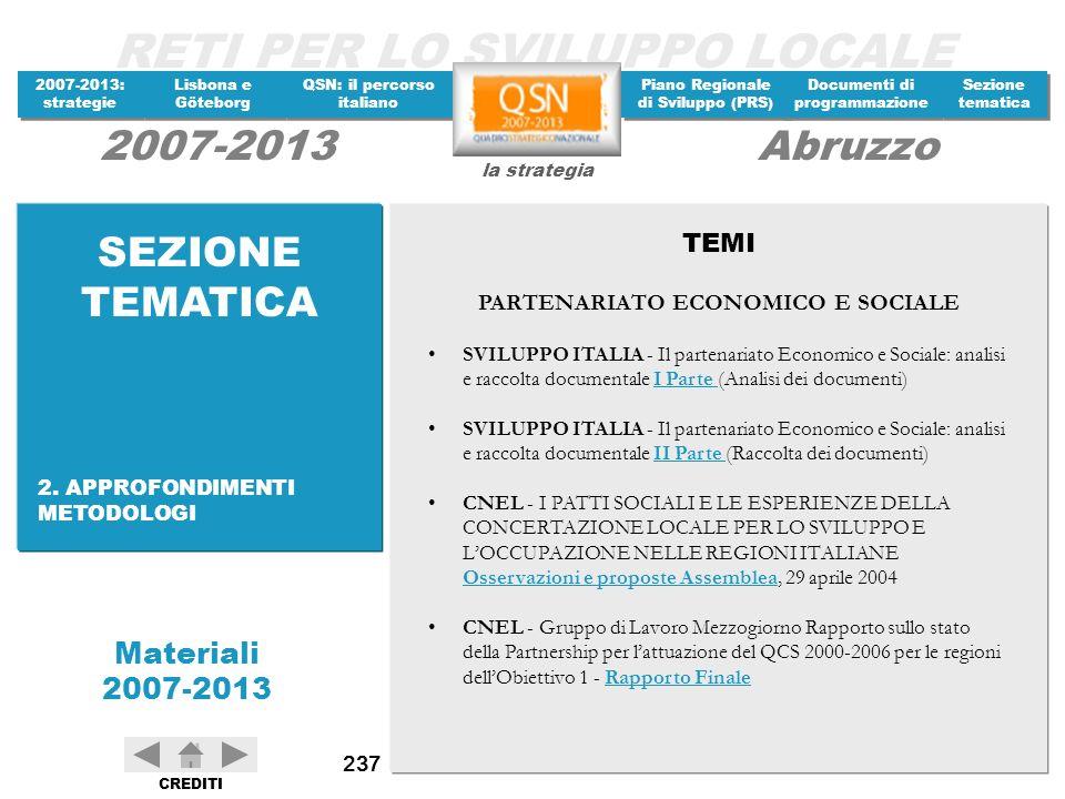 PARTENARIATO ECONOMICO E SOCIALE