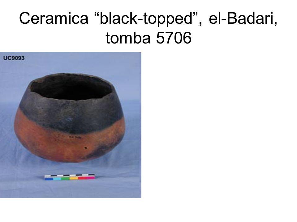 Ceramica black-topped , el-Badari, tomba 5706