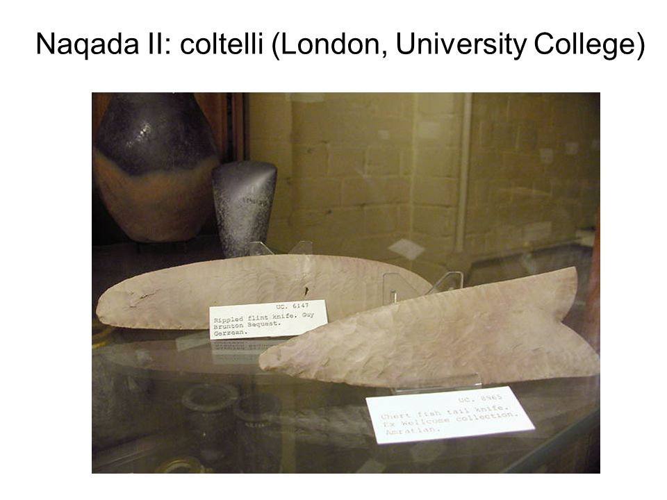 Naqada II: coltelli (London, University College)