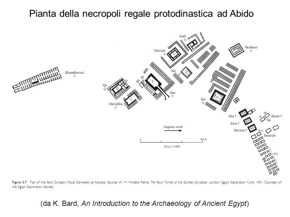 Pianta della necropoli regale protodinastica ad Abido