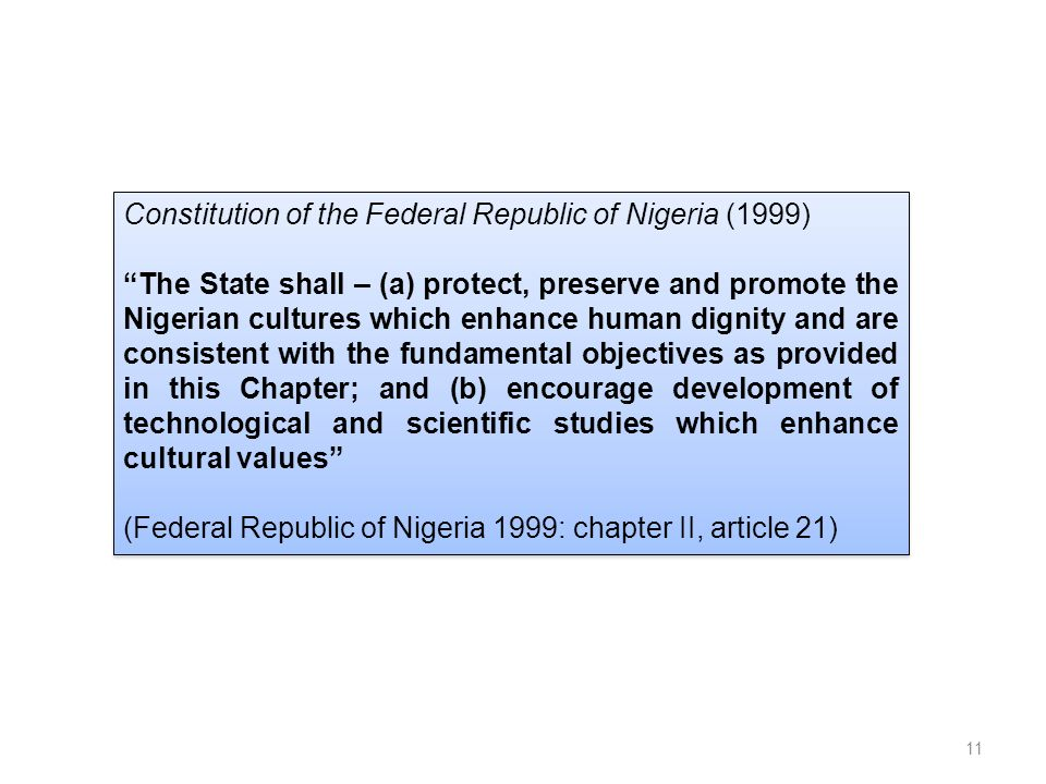 Constitution of the Federal Republic of Nigeria (1999)