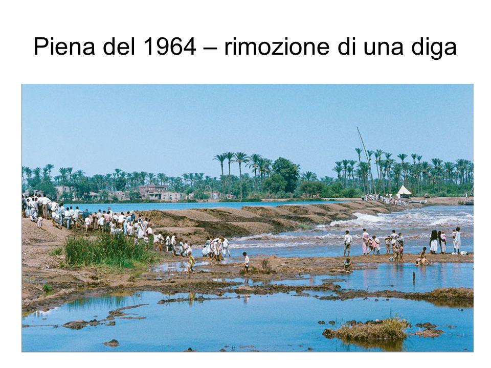 Piena del 1964 – rimozione di una diga