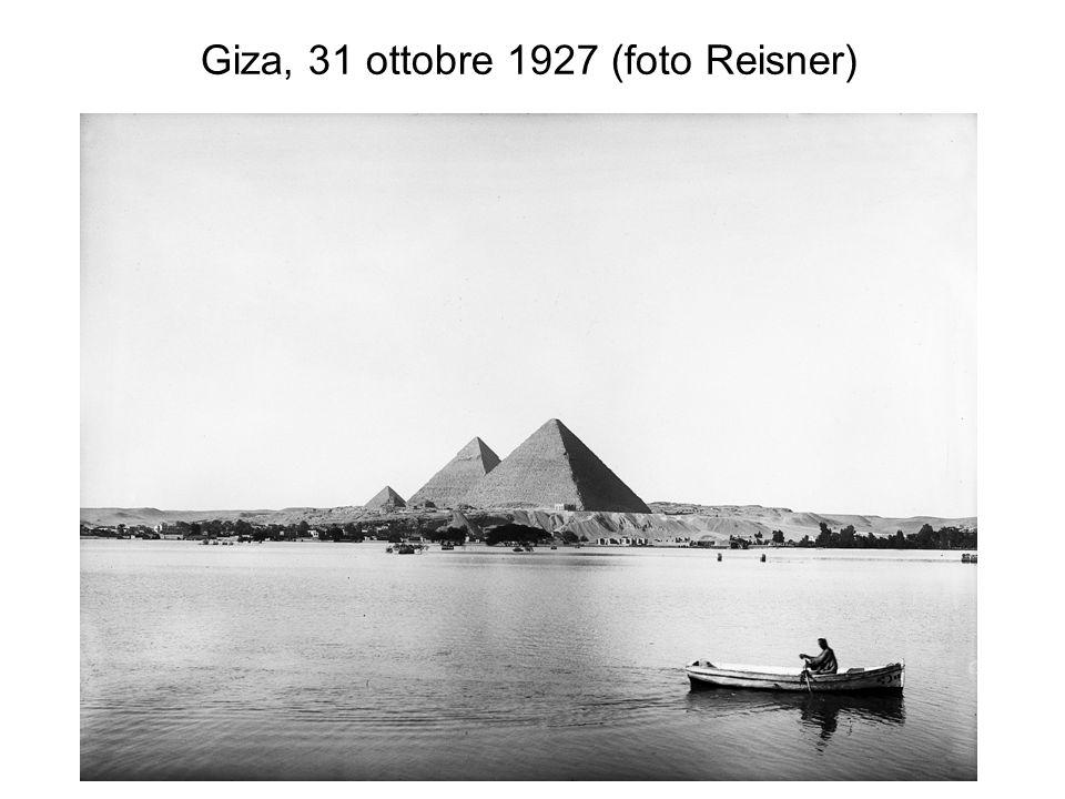 Giza, 31 ottobre 1927 (foto Reisner)