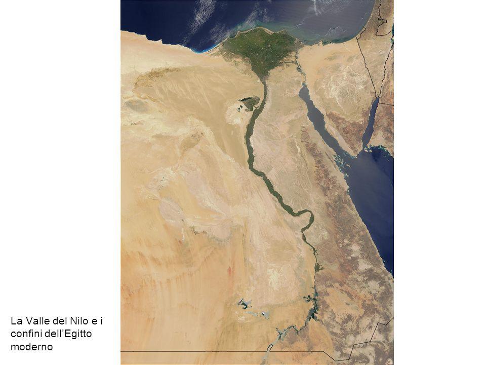 La Valle del Nilo e i confini dell'Egitto moderno