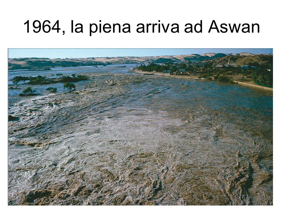 1964, la piena arriva ad Aswan