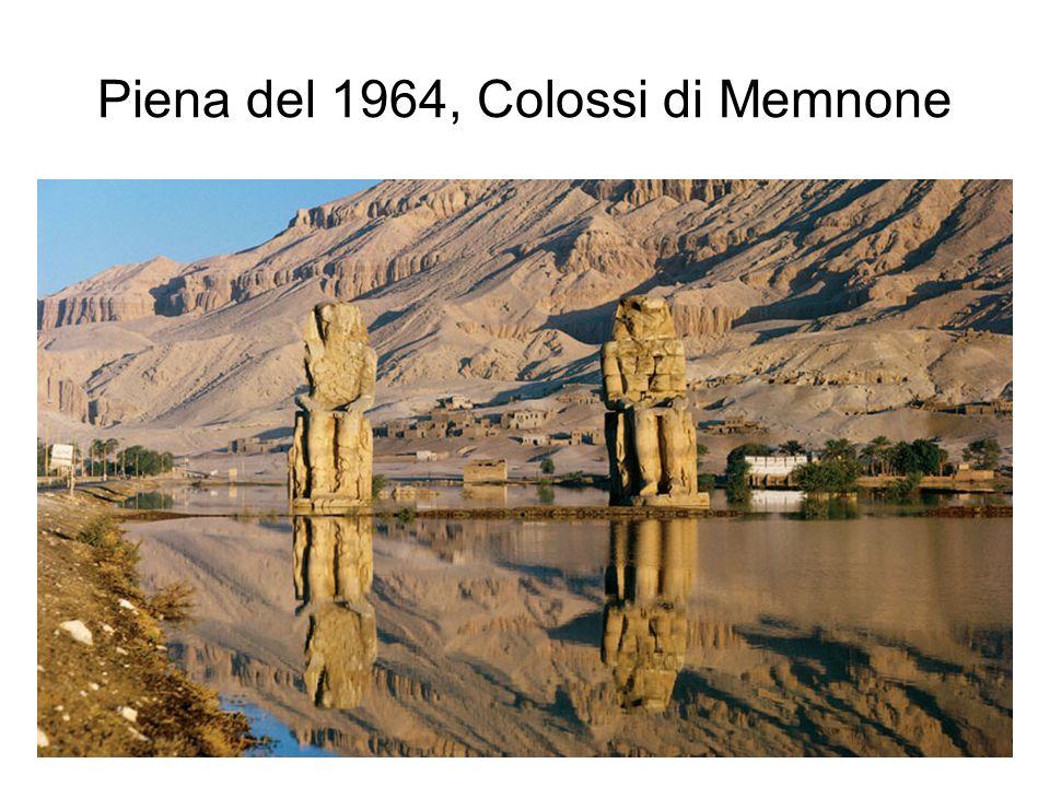 Piena del 1964, Colossi di Memnone