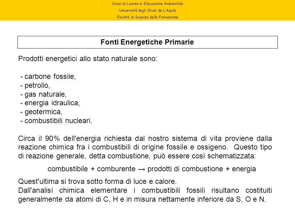 Fonti Energetiche Primarie