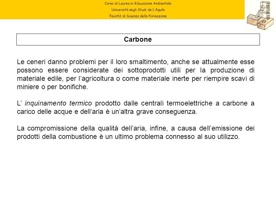 Corso di Laurea in Educazione Ambientale