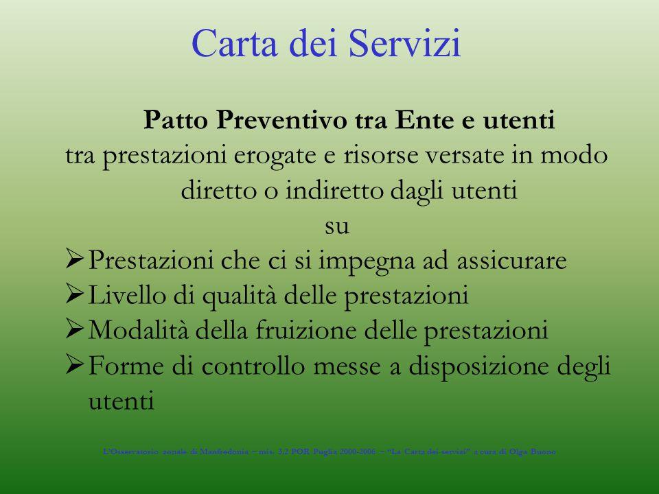 Patto Preventivo tra Ente e utenti