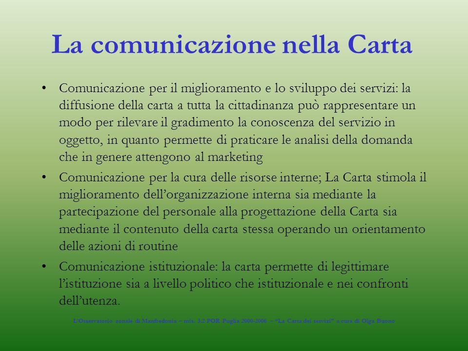 La comunicazione nella Carta