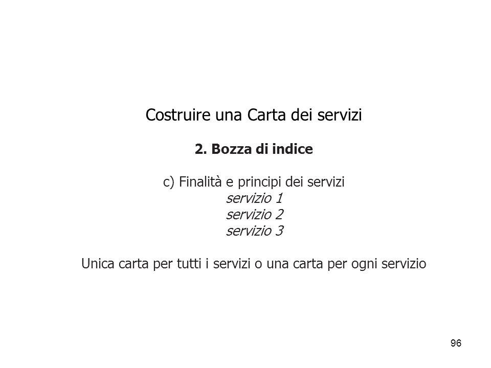 Costruire una Carta dei servizi 2