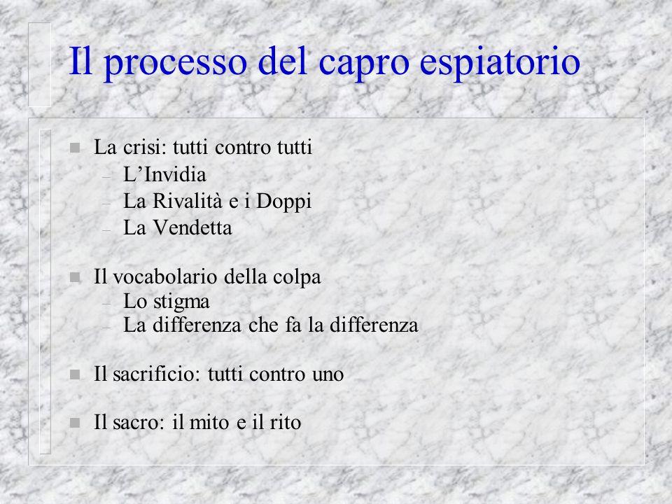 Il processo del capro espiatorio