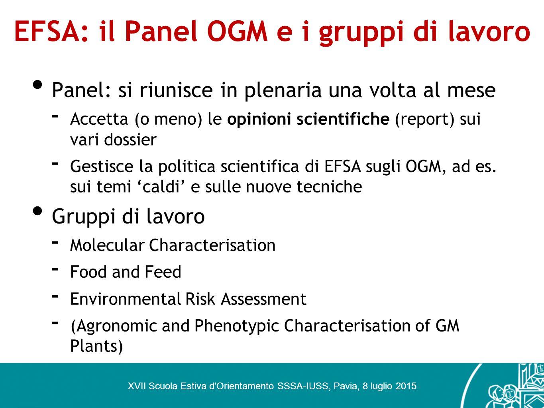 EFSA: il Panel OGM e i gruppi di lavoro