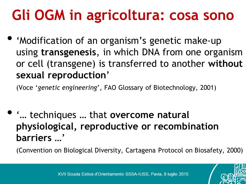 Gli OGM in agricoltura: cosa sono