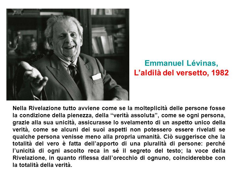 Emmanuel Lévinas, L'aldilà del versetto, 1982