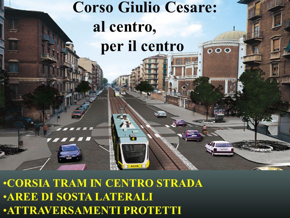 Corso Giulio Cesare: al centro, per il centro