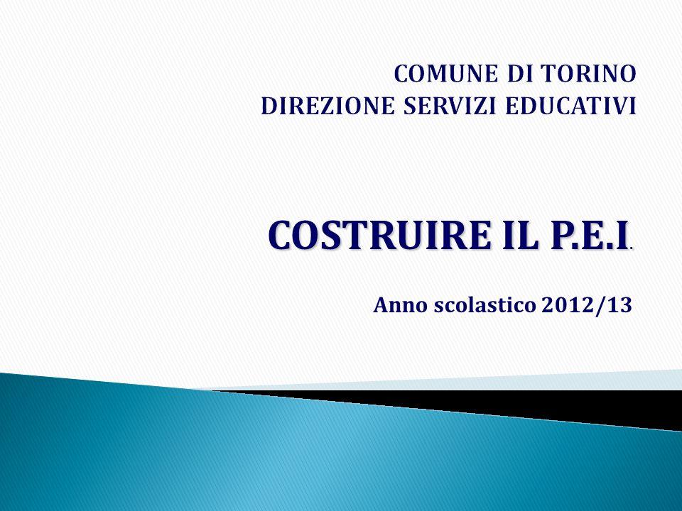COMUNE DI TORINO DIREZIONE SERVIZI EDUCATIVI