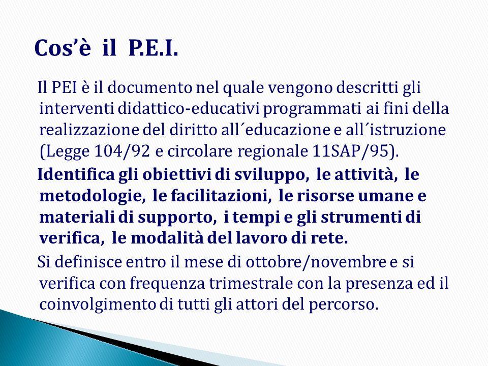 Cos'è il P.E.I.