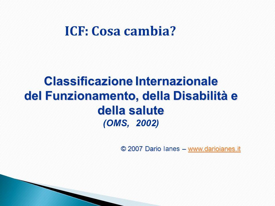 ICF: Cosa cambia Classificazione Internazionale
