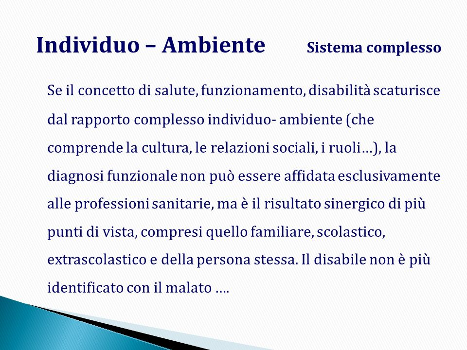Individuo – Ambiente Sistema complesso