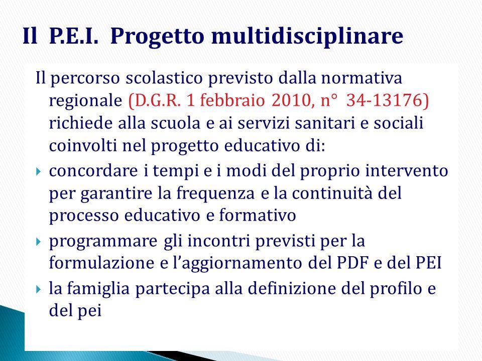 Il P.E.I. Progetto multidisciplinare