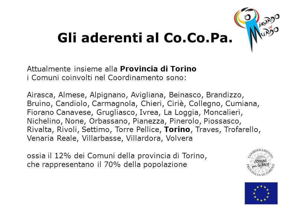 Gli aderenti al Co.Co.Pa. Attualmente insieme alla Provincia di Torino