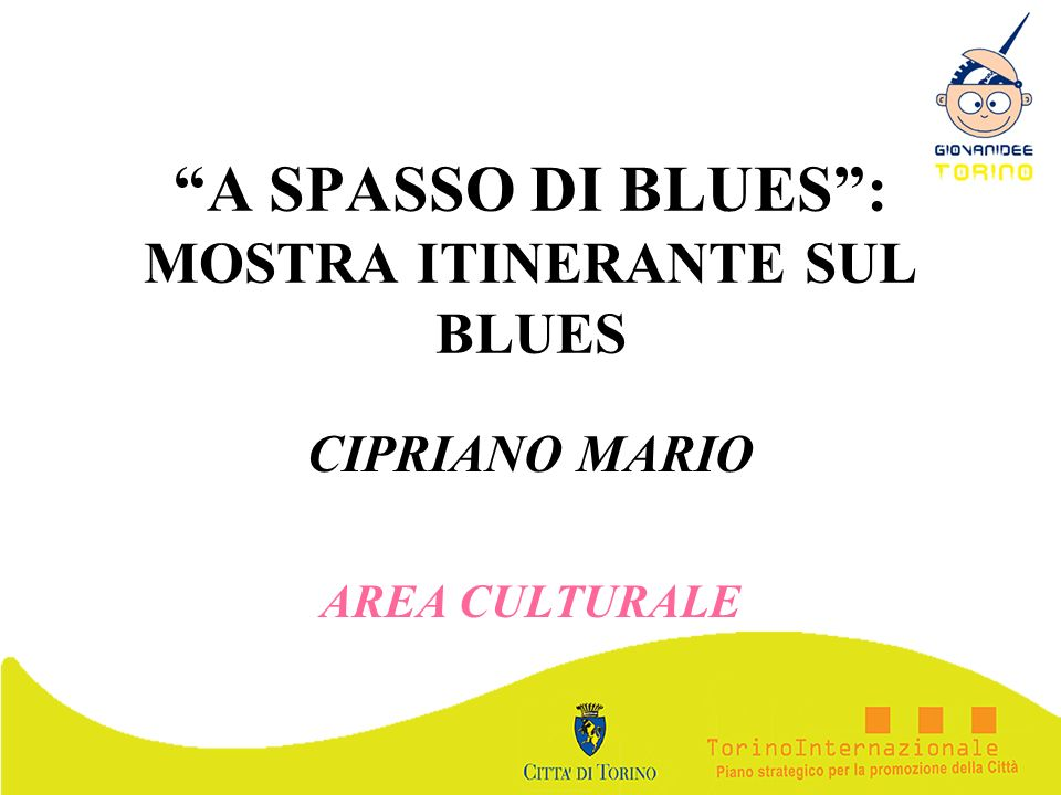 A SPASSO DI BLUES : MOSTRA ITINERANTE SUL BLUES