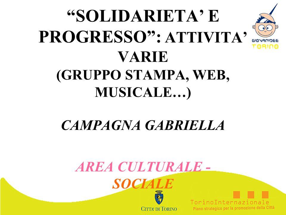 CAMPAGNA GABRIELLA AREA CULTURALE - SOCIALE