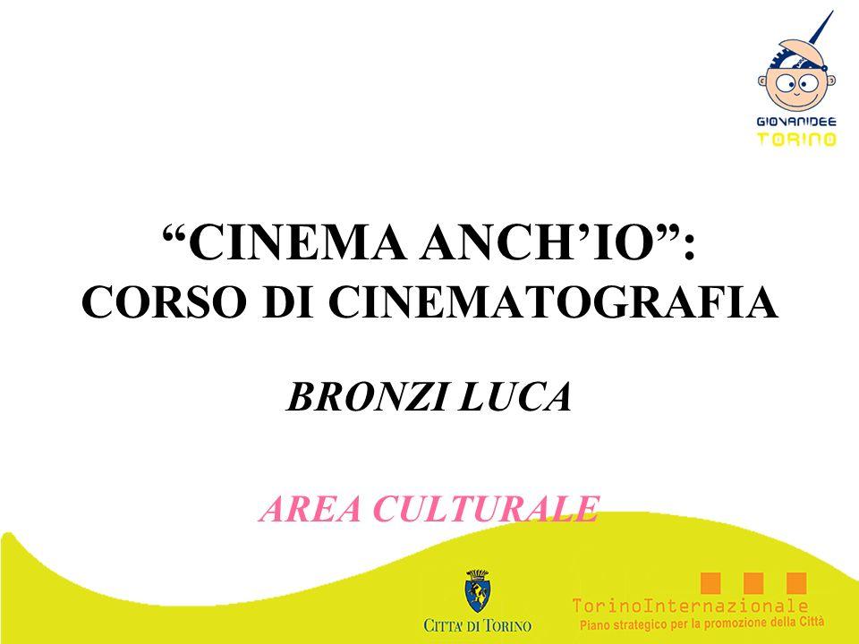 CINEMA ANCH'IO : CORSO DI CINEMATOGRAFIA