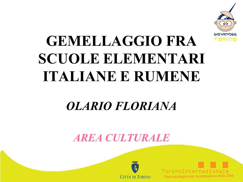 GEMELLAGGIO FRA SCUOLE ELEMENTARI ITALIANE E RUMENE