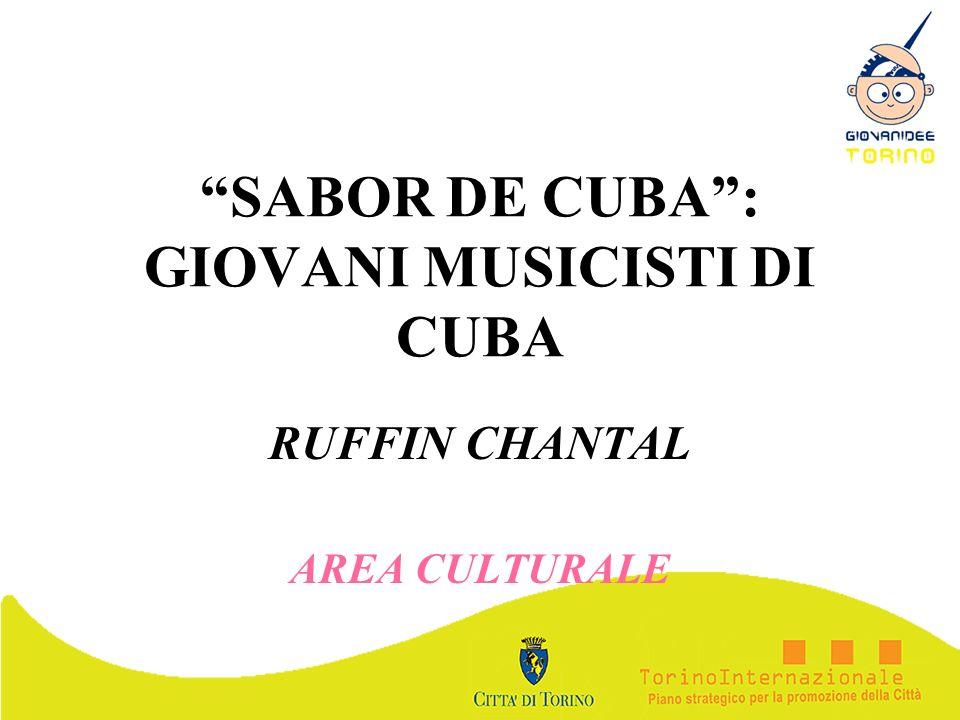 SABOR DE CUBA : GIOVANI MUSICISTI DI CUBA