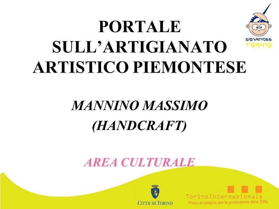 PORTALE SULL'ARTIGIANATO ARTISTICO PIEMONTESE