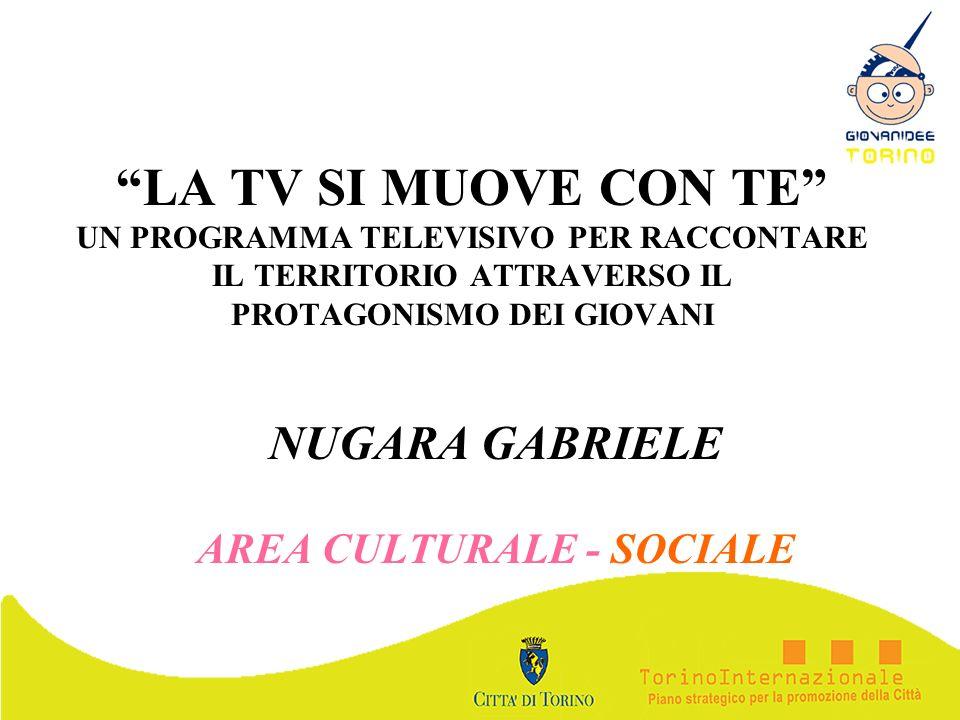 NUGARA GABRIELE AREA CULTURALE - SOCIALE
