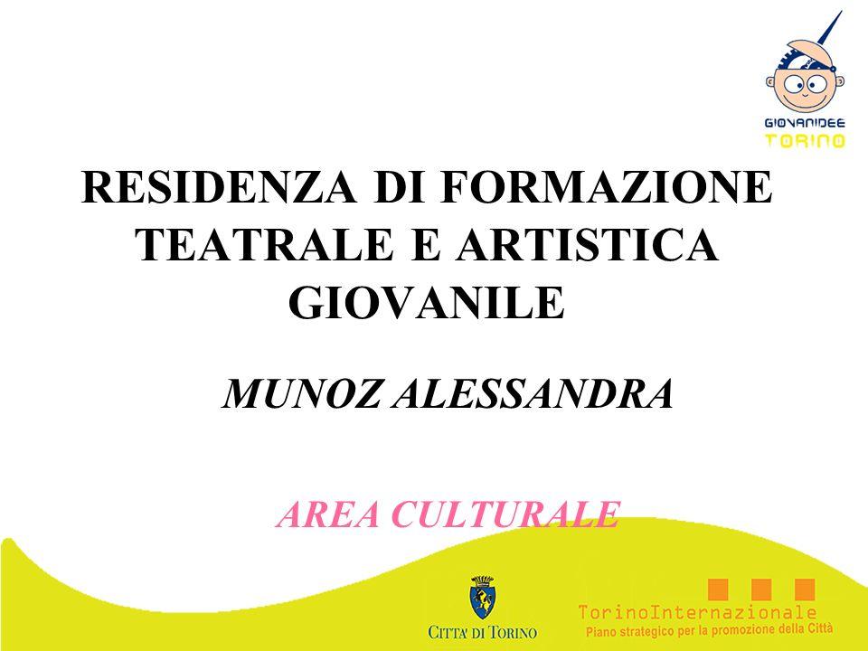 RESIDENZA DI FORMAZIONE TEATRALE E ARTISTICA GIOVANILE