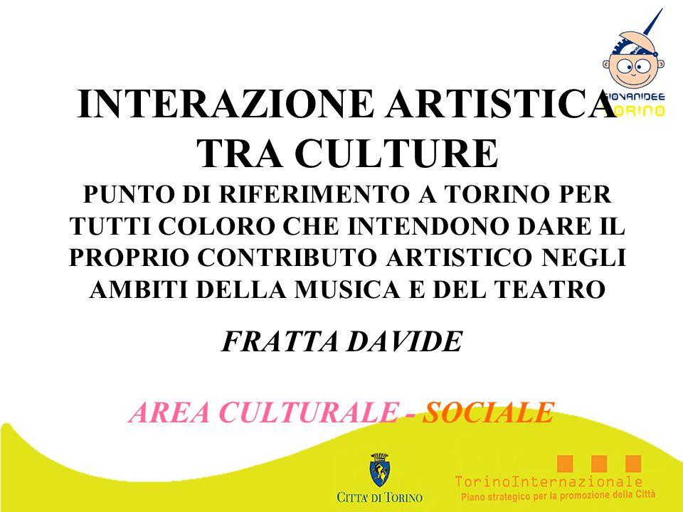 FRATTA DAVIDE AREA CULTURALE - SOCIALE