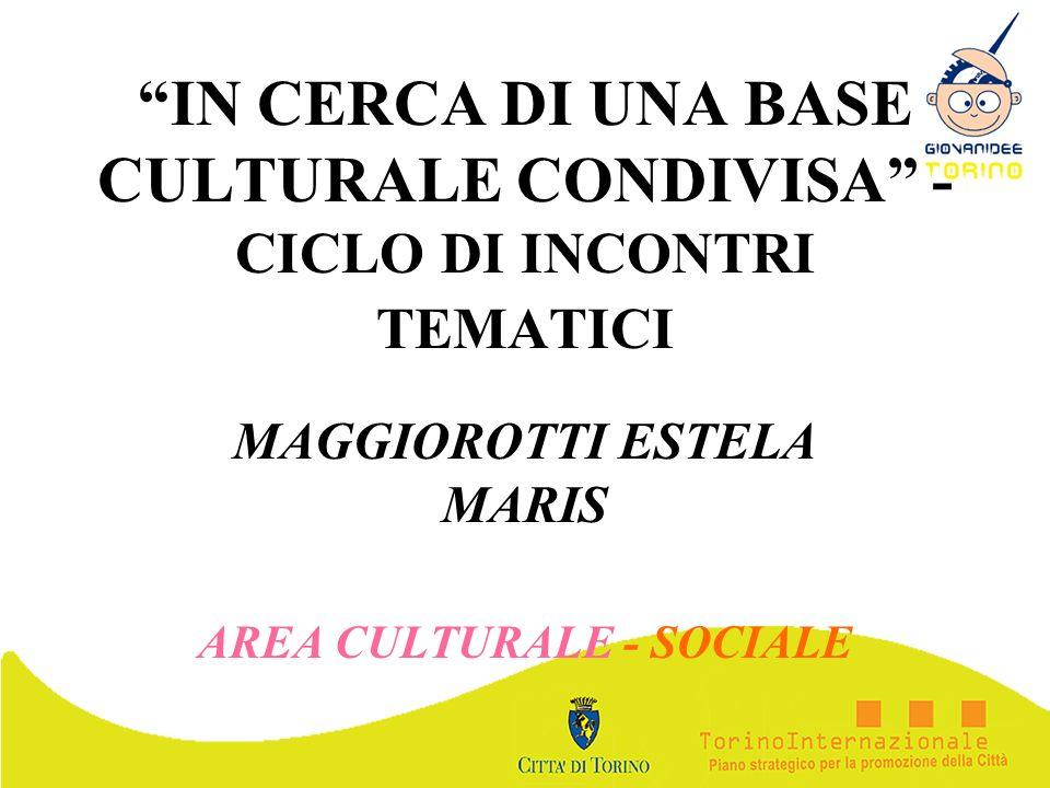 MAGGIOROTTI ESTELA MARIS AREA CULTURALE - SOCIALE