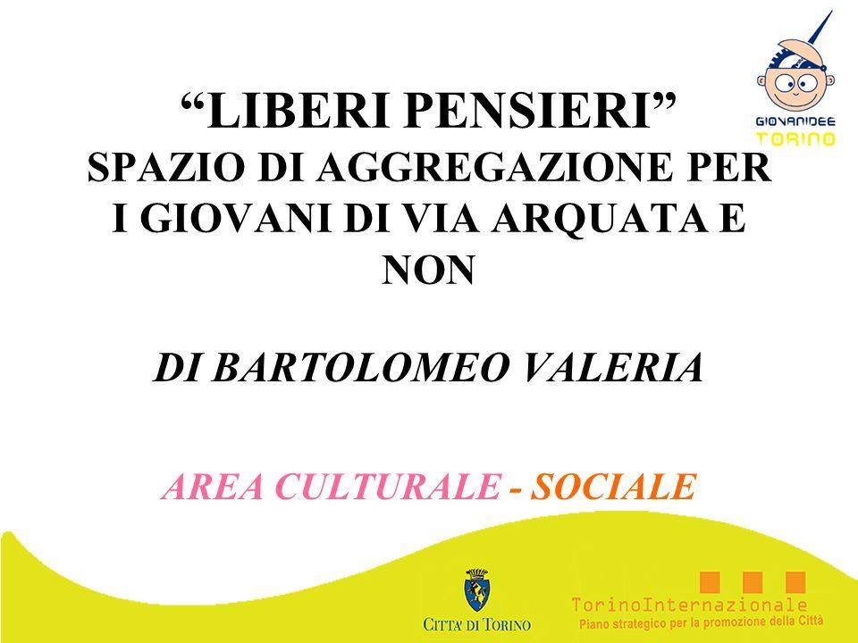 DI BARTOLOMEO VALERIA AREA CULTURALE - SOCIALE