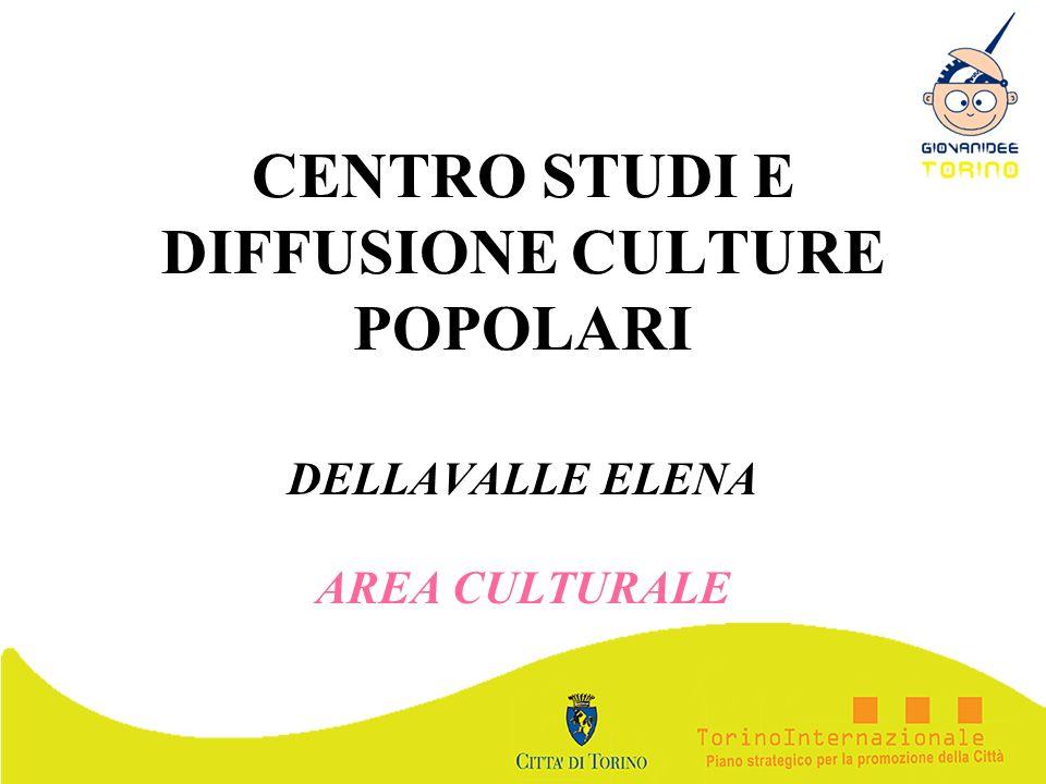 CENTRO STUDI E DIFFUSIONE CULTURE POPOLARI