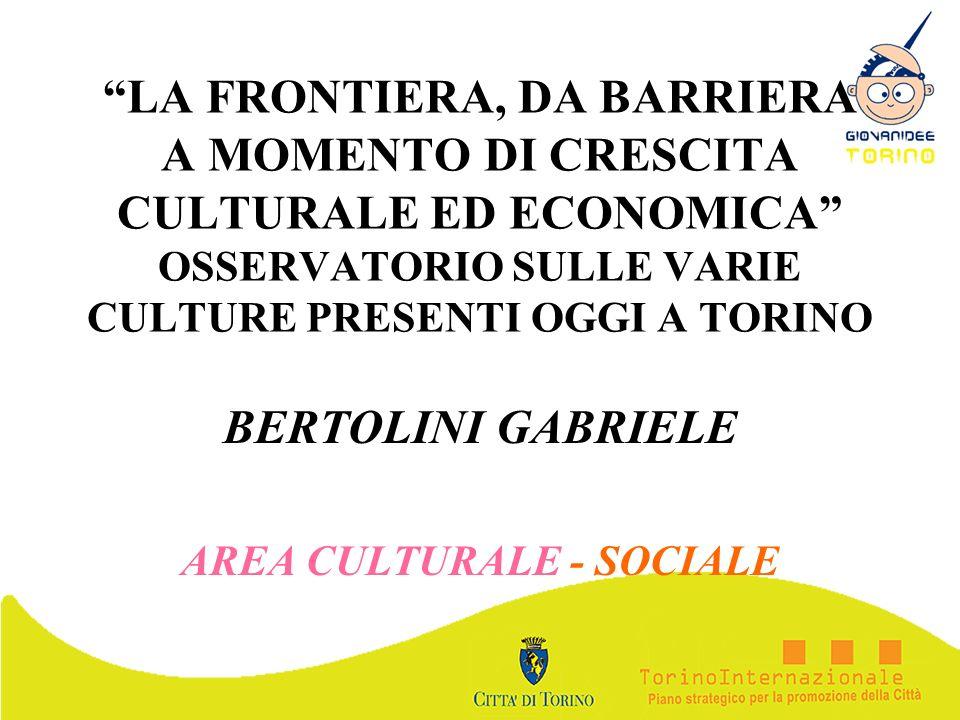 BERTOLINI GABRIELE AREA CULTURALE - SOCIALE
