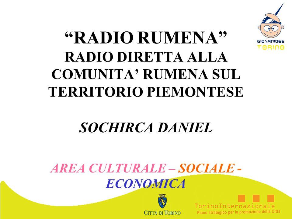SOCHIRCA DANIEL AREA CULTURALE – SOCIALE - ECONOMICA
