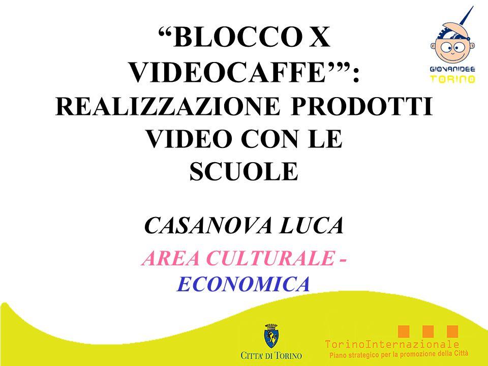 BLOCCO X VIDEOCAFFE' : REALIZZAZIONE PRODOTTI VIDEO CON LE SCUOLE