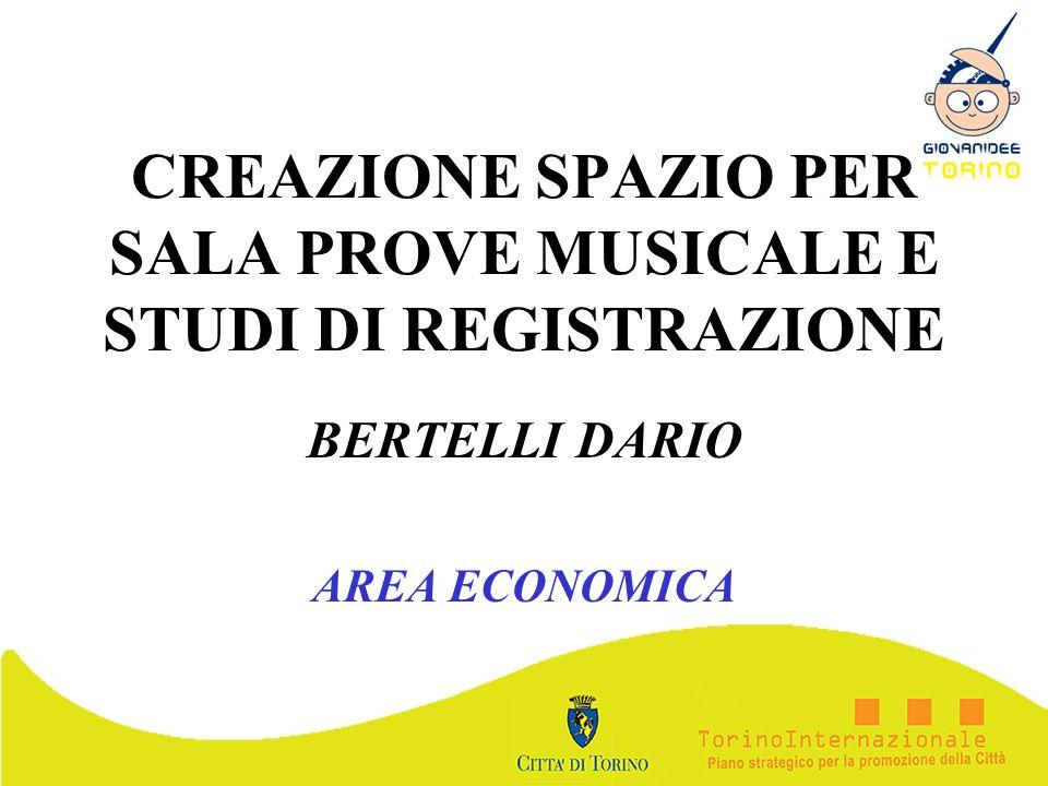 CREAZIONE SPAZIO PER SALA PROVE MUSICALE E STUDI DI REGISTRAZIONE
