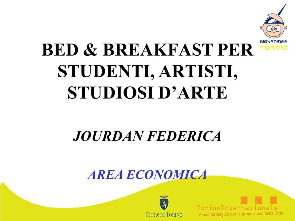 BED & BREAKFAST PER STUDENTI, ARTISTI, STUDIOSI D'ARTE