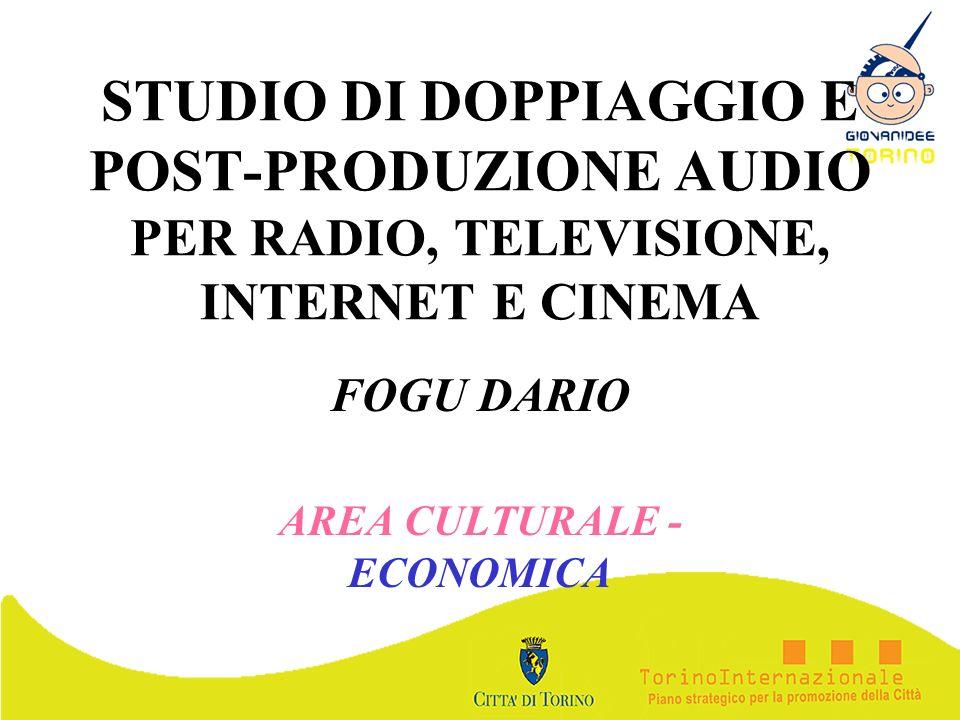 FOGU DARIO AREA CULTURALE - ECONOMICA