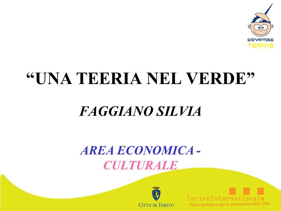 FAGGIANO SILVIA AREA ECONOMICA - CULTURALE