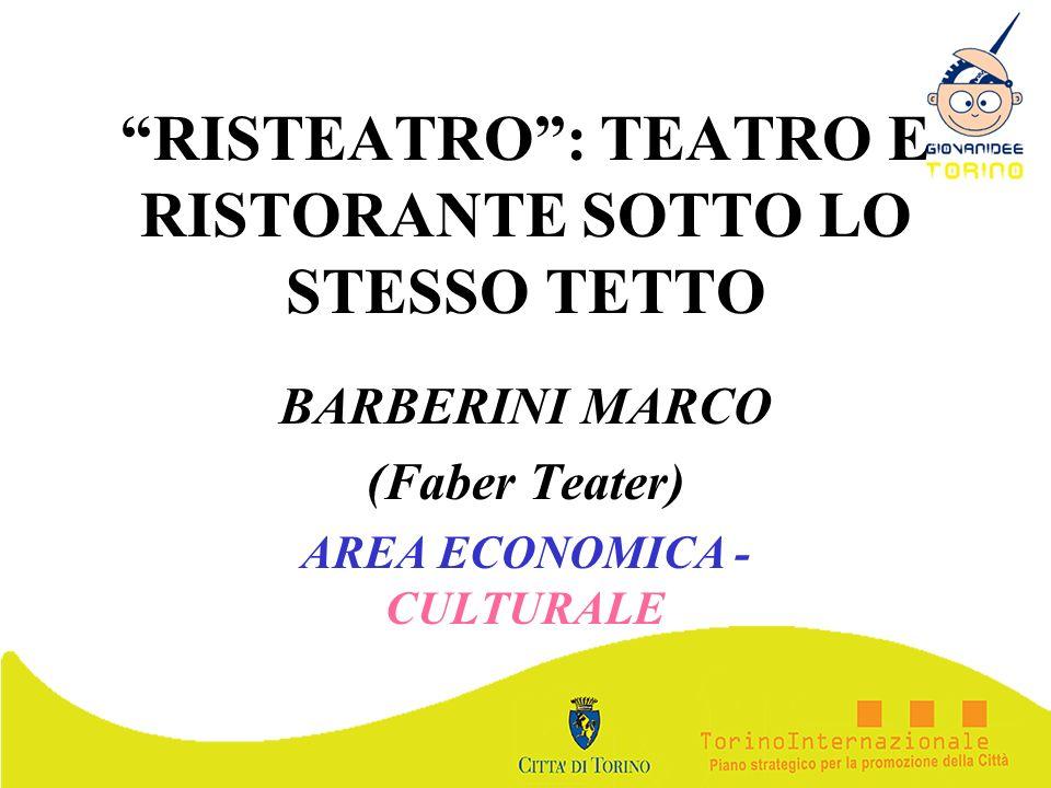 RISTEATRO : TEATRO E RISTORANTE SOTTO LO STESSO TETTO