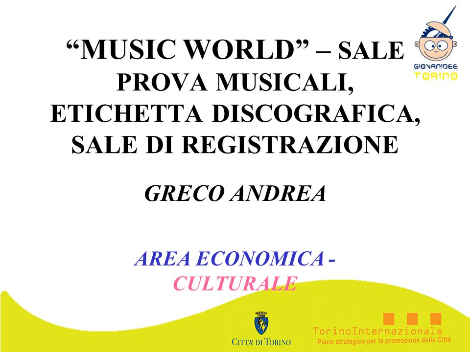 GRECO ANDREA AREA ECONOMICA - CULTURALE