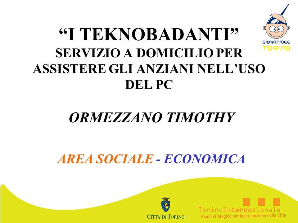 ORMEZZANO TIMOTHY AREA SOCIALE - ECONOMICA